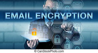 bezpieczeństwo, dyrektor, rzutki, email, encryption