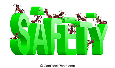 bezpieczeństwo, gmach, asekurować, i, spokojny