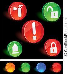 bezpieczeństwo, icons.