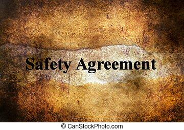 bezpieczeństwo, porozumienie, tekst, na, grunge, tło