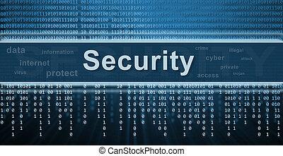 bezpieczeństwo, technologia, concept., tło
