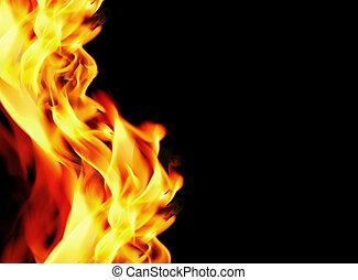 bezvadný, grafické pozadí, oheň