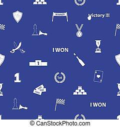 bezvadný, vítězství, symbol, oplzlý i kdy běloba, seamless, model, eps10