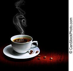 bezvadný, zrnková káva