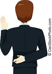 bezwering, gekruiste vingers