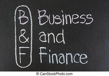 B&F acronym Business and Finance