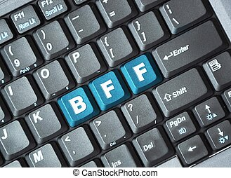 bff, tecla, ligado, teclado