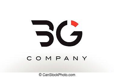 BG Logo.  Letter Design Vector.