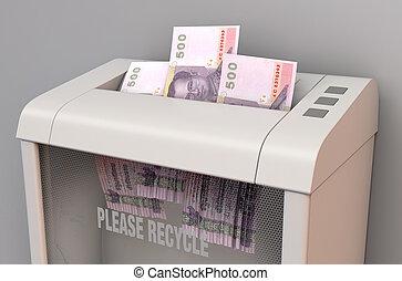 Bhat In Shredder - A regular office paper shredder in the ...