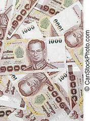 bhat - Thai money background