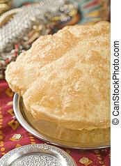 bhatura., alimento indio