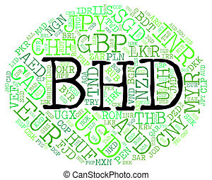 Bhd Currency Indicating Exchange Rate And Text