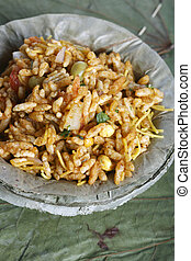 Bhel puri - A street food in North India - Bhel puri -...