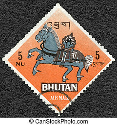 BHUTAN - 1968: shows Wind Horse, symbol from Buddhism