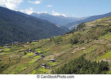 Bhutan, rural area in Haa valley