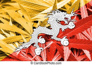 bhutan läßt, auf, cannabis, hintergrund., droge, policy., legalization, von, marihuana