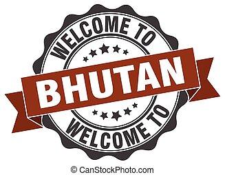 Bhutan round ribbon seal