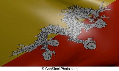 bhutan strong wind flag
