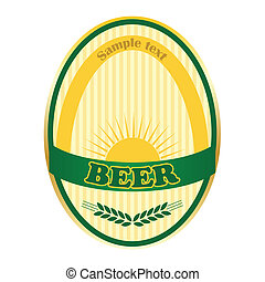 bière, étiquette, design.