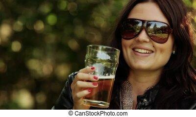 bière, apprécier, verre