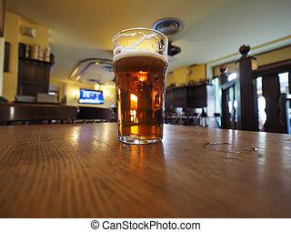 bière, bière, britannique, pinte