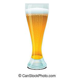bière, dans, verre