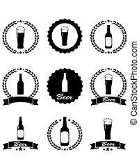 bière, ensemble, emblème