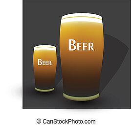 bière, eps10, deux, lunettes