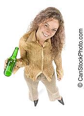 bière, femme