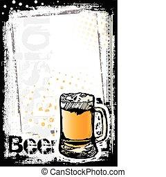 bière, fest, fond