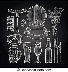 bière, graphique, collection