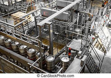 bière, lavage, baril, chargeur