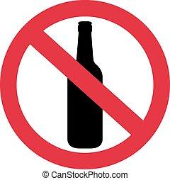 bière, non, alcool, permis
