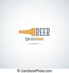 bière, ouvreur, bouteille, fond