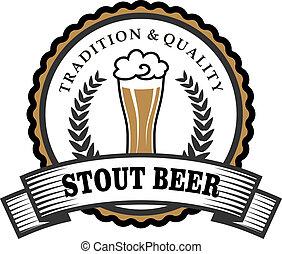 bière, retro, étiquette