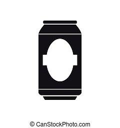 bière, silhouette, boîte