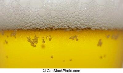 bière, verre., bulles