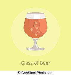 bières, verrerie, vecteur, snifter, transparent