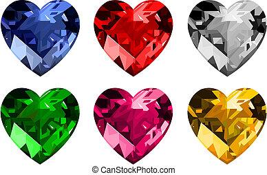 biżuteria, _hearts