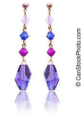 biżuteria, i fason, pojęcie, z, earrings