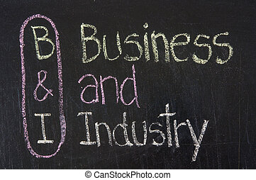 B&I acronym Business and Industry