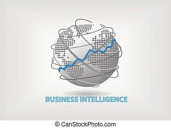 (bi), inteligencia, concepto, empresa / negocio