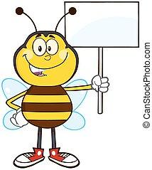 bi, karakter, cartoon, mascot