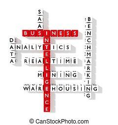 bi, krydsord gåde, firma, intelligens, begreb, lejlighed, konstruktion