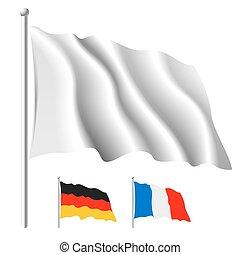 biała bandera, szablon