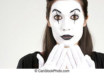 biała twarz