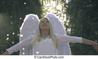 biały anioł