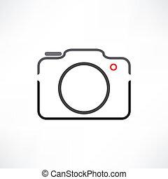 biały, aparat fotograficzny