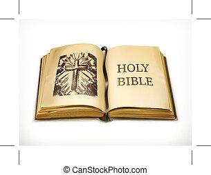 biały, biblia, święty
