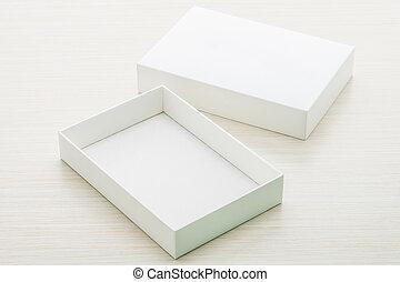 biały, boks